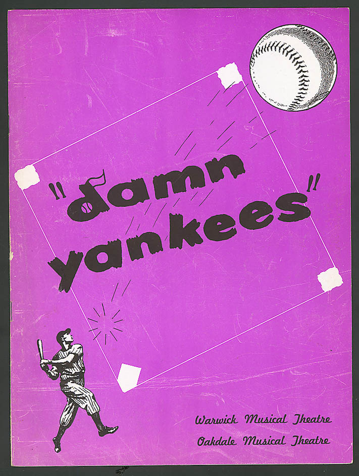 Devra Korwin Robert Gallagher Damn Yankees program 50s