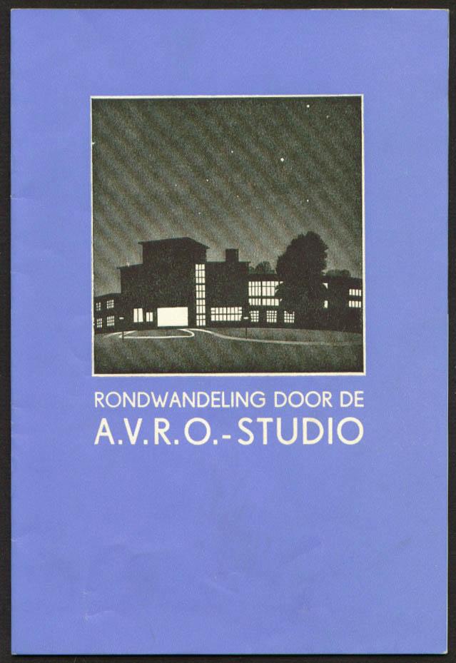 Rondwandeling Door AVRO Studio Hilversum booklet 1936
