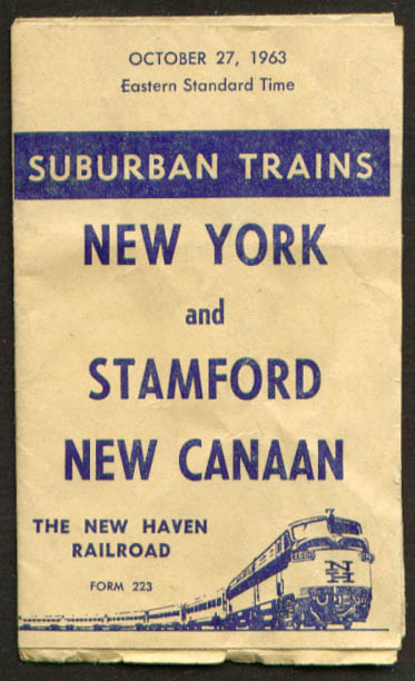 Image for New Haven RR NY-Stamford-New Canaan timetable 1963