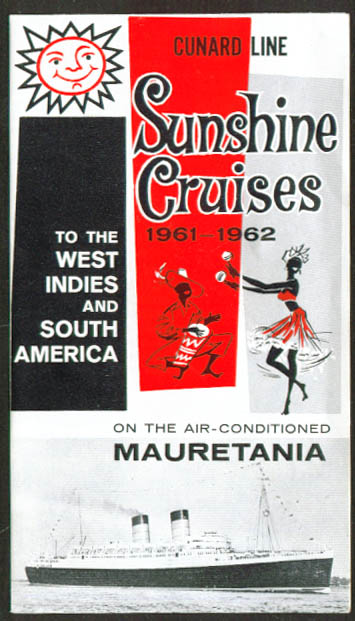 Cunard R M S Mauretania Sunshine Cruises folder 1961-2