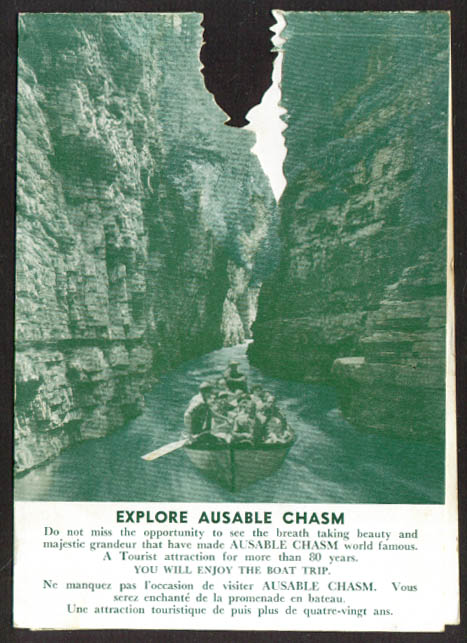 Explore Ausable Chasm NY die-cut stand-up card 20s