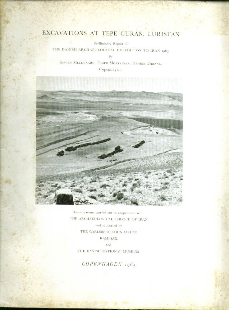 Excavations Tepe Guran Luristan SIGNED Meldgaard 1964