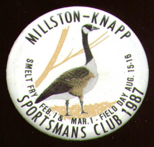 Millston-Knapp Sportsmans Club Field Day pin 1988