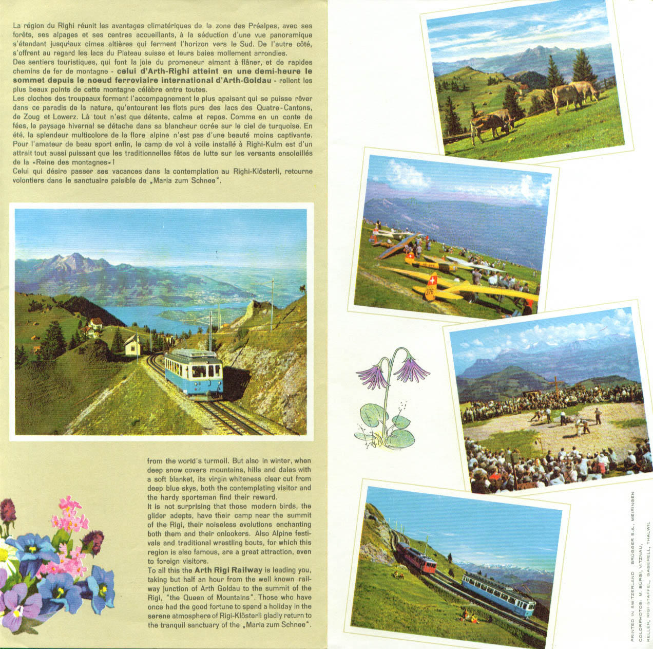Arth-Rigi Railroad Central Switzerland folder 1950s