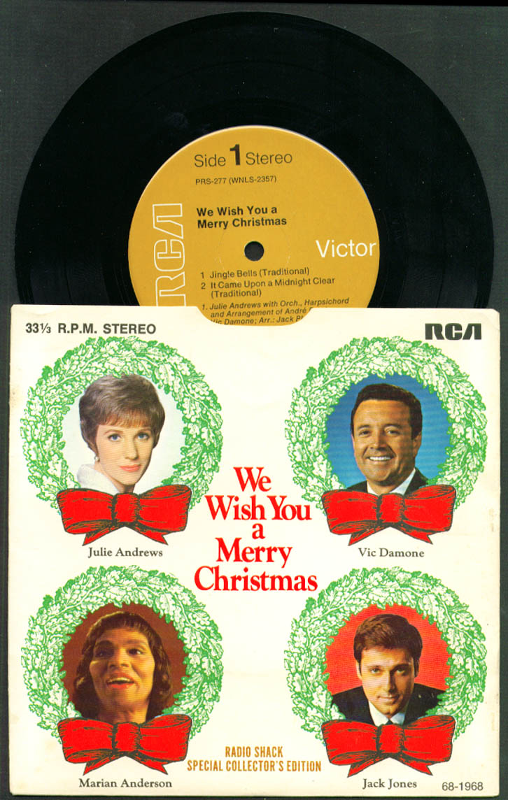 Julie Andrews Vic Damone ++ Radio Shack Merry Christmas 33rpm record 1968