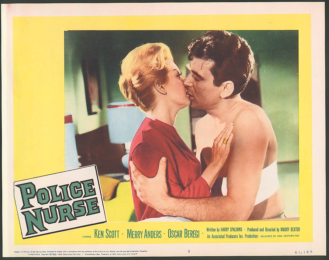 Ken Scott Merry Anders Police Nurse lobby card 1963 #4