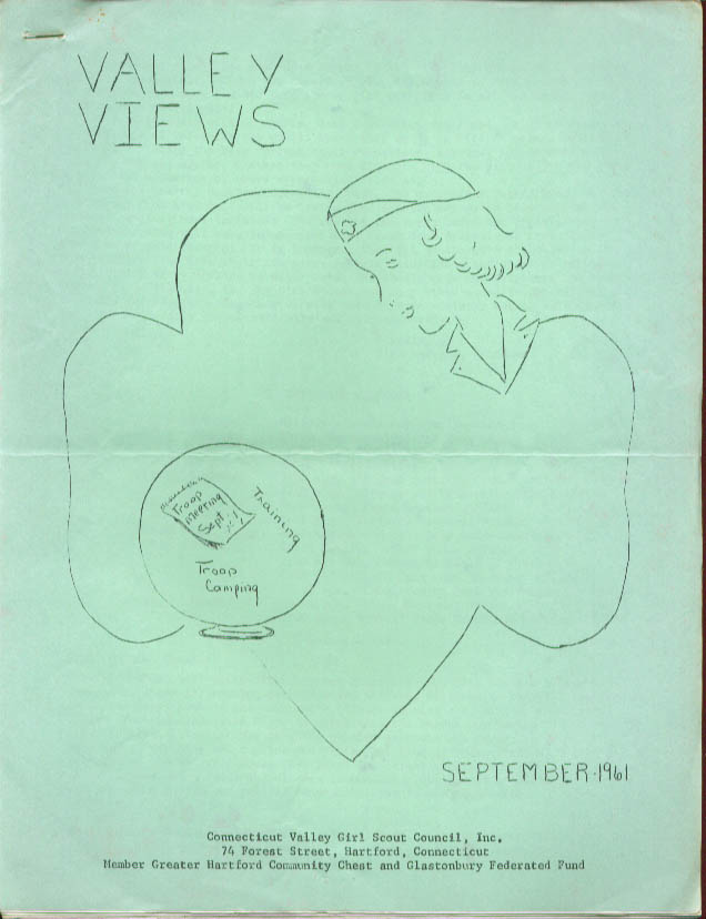 Valley Views 9/1961 Connecticut Valley Girl Scout Council Girl Scouts