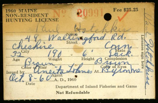 Ephemera for Fishing license near me