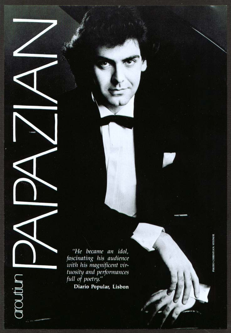 Pianist Aroutiun Papazian flyer Carnegie Hall 1985