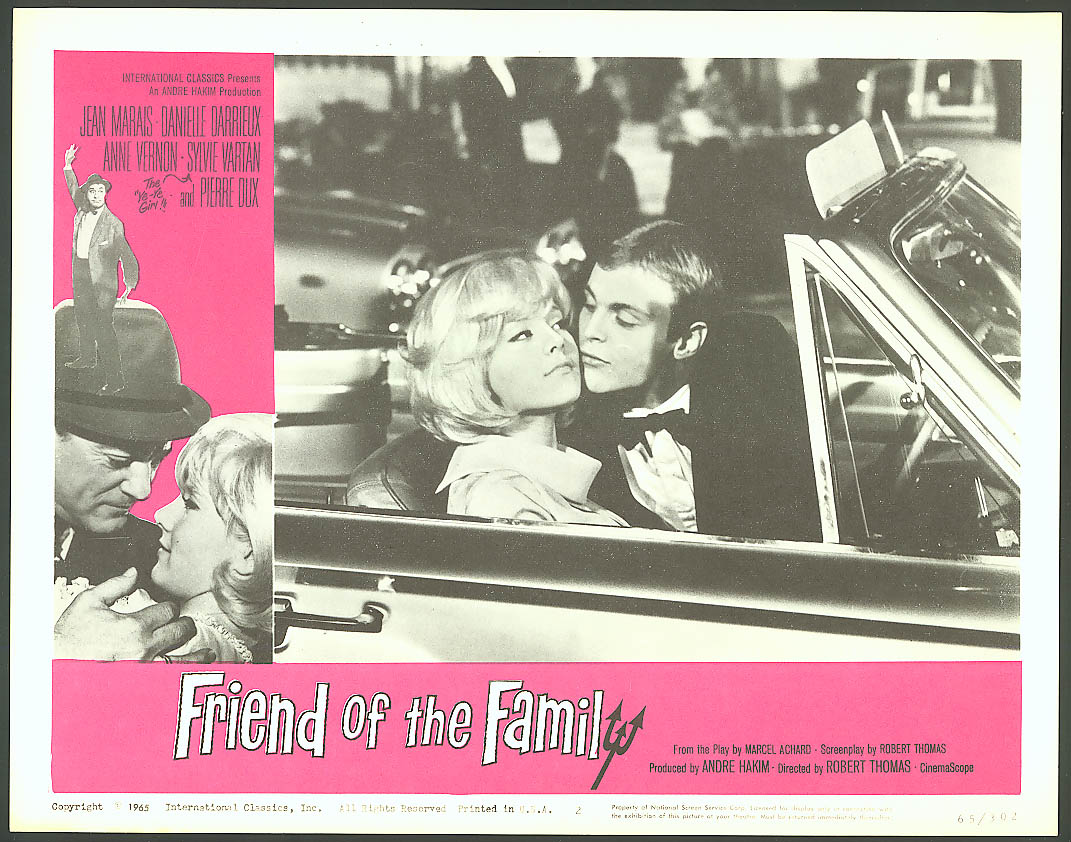 Danielle Darrieux Friend of the Family lobby card #1