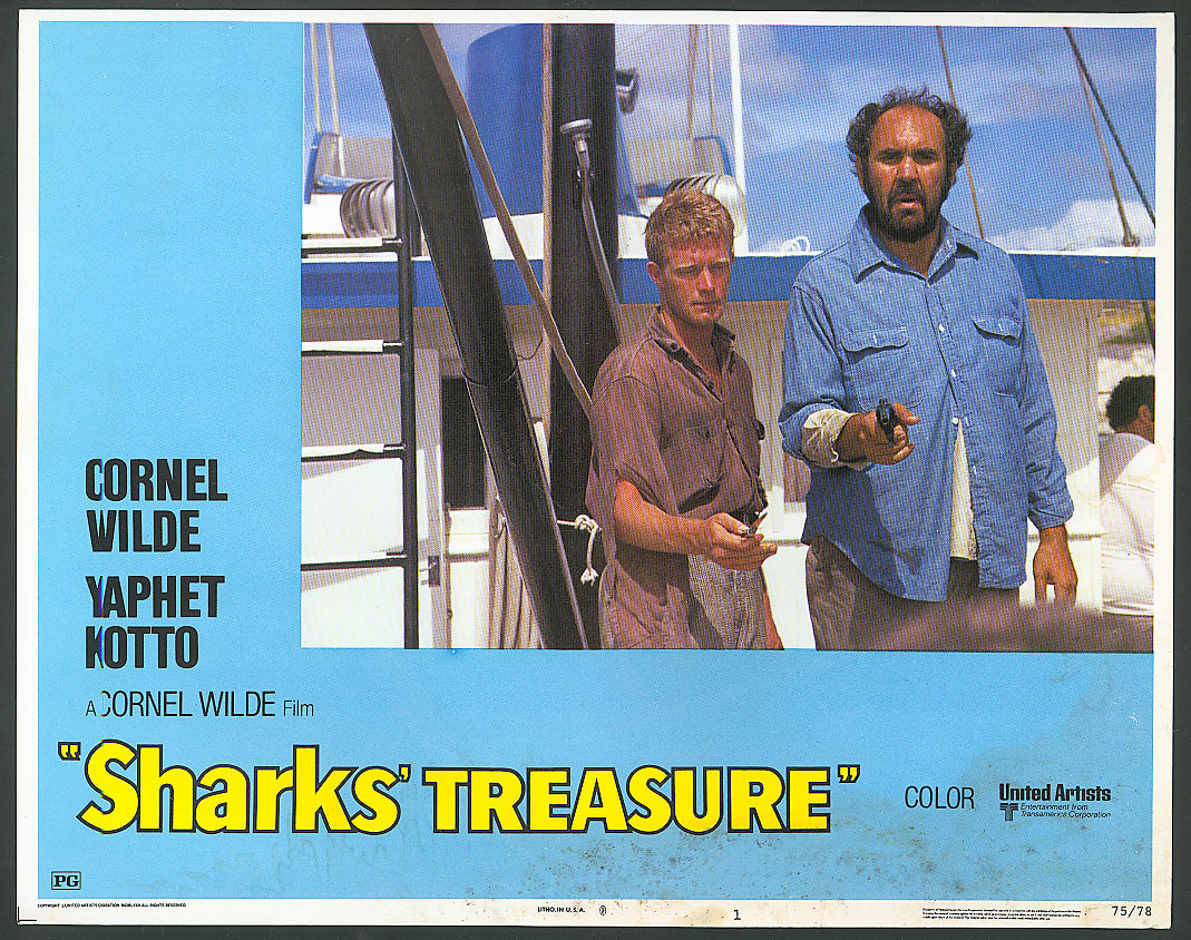John Neilson in Sharks' Treasure lobby card 1975