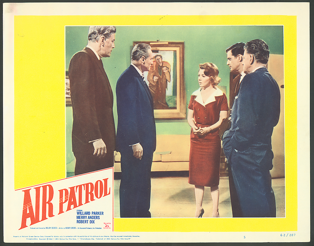 Image for Merry Anders Robert Dix in Air Patrol lobby card 1962