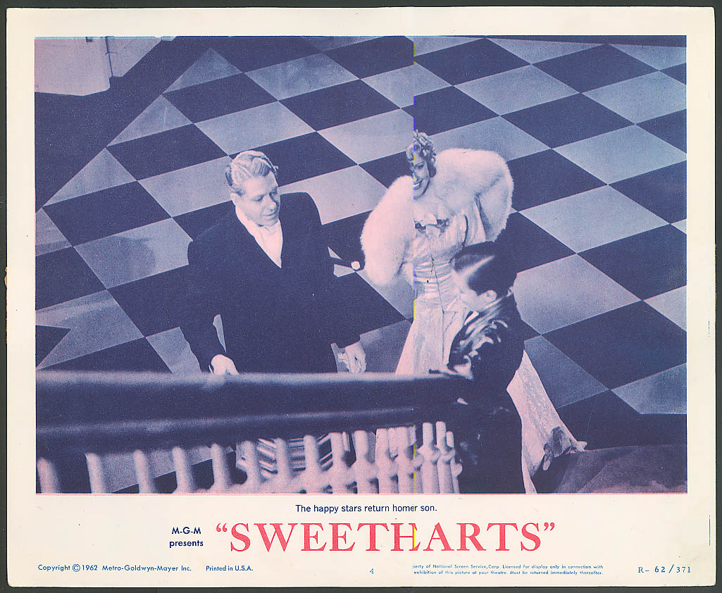 Image for Jeanette MacDonald Nelson Eddy in Sweethearts lobby card