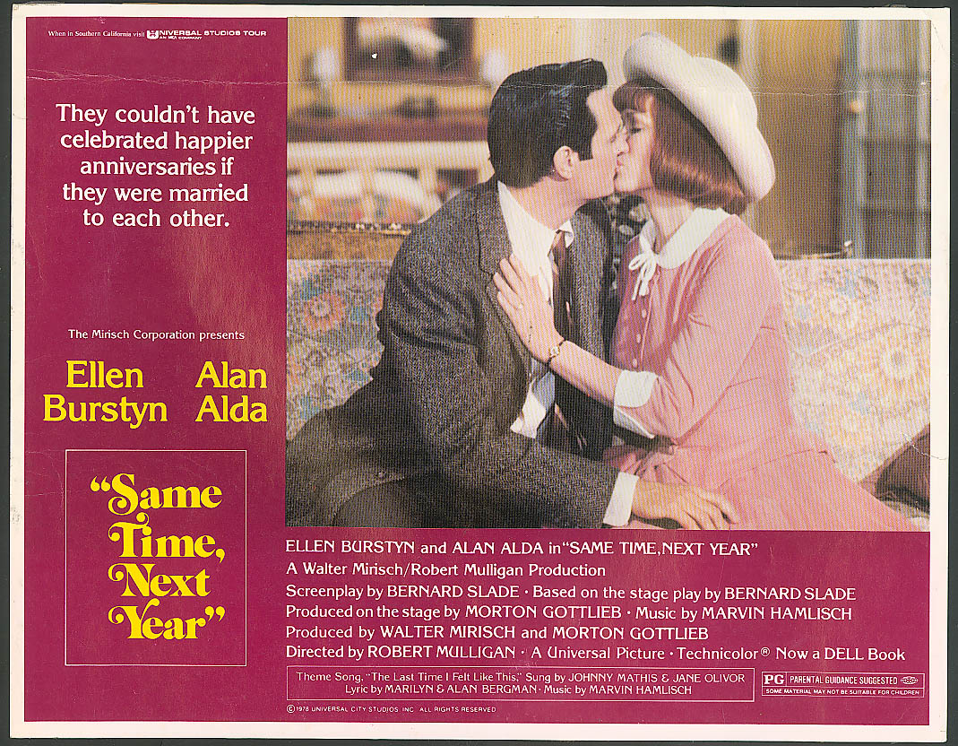 Alan Alda Ellen Burstyn Same Time Next Year lobby #1