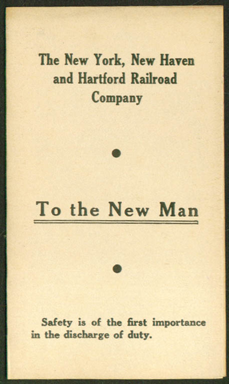 Image for New York New Haven & Hartford RR To New Man folder 1940s