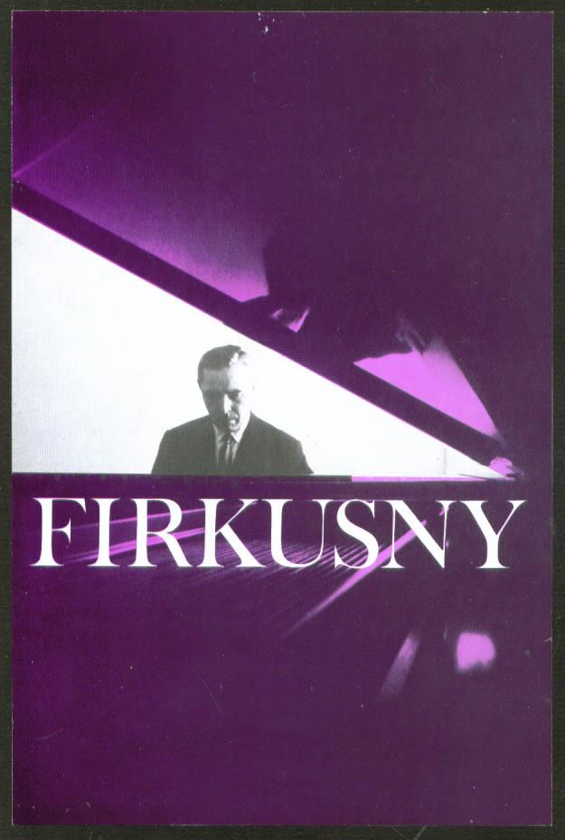 Pianist Rudolf Firkusny flyer Bushnell Hartford 1966