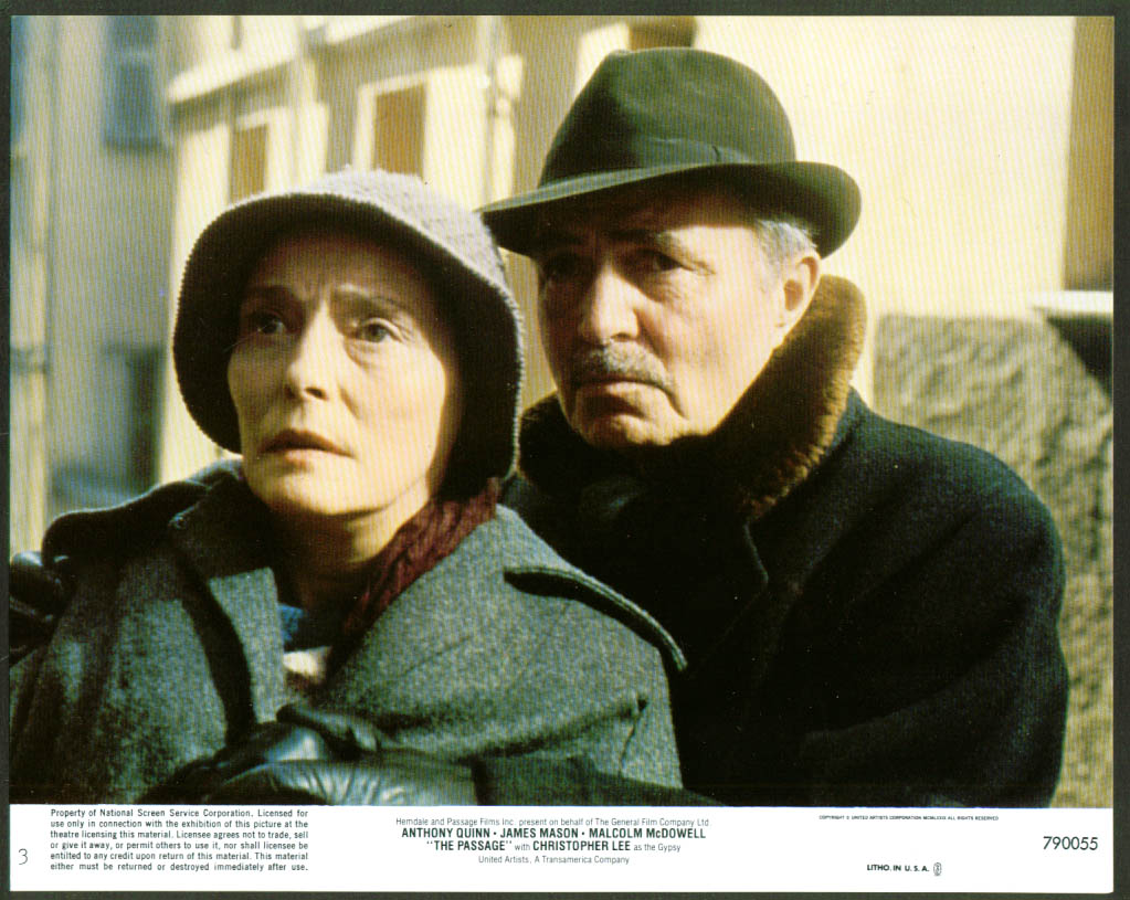 Image for Patricia Neal James Mason The Passage lobby card 1979