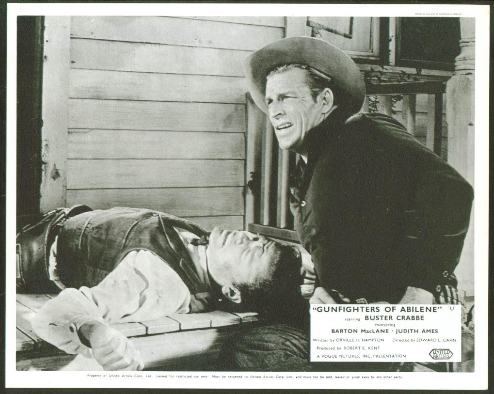 Buster Crabbe Gunfighters of Abilene lobby card 1960