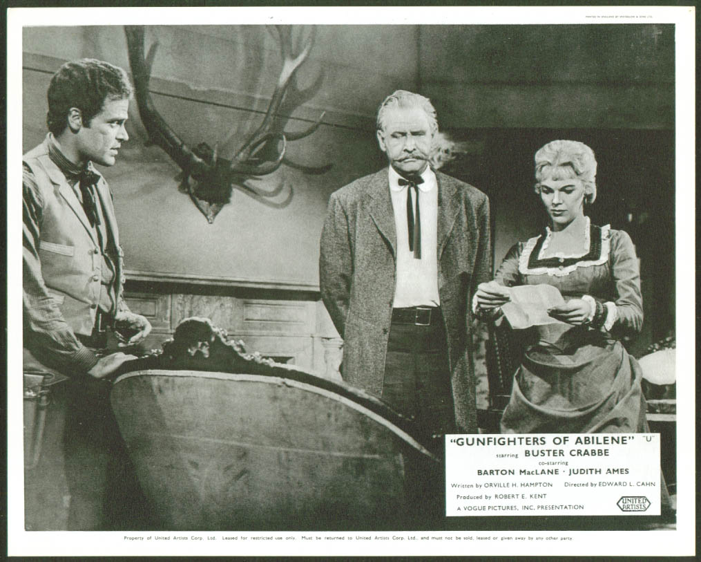 Judith Ames Gunfighters of Abilene lobby card 1960