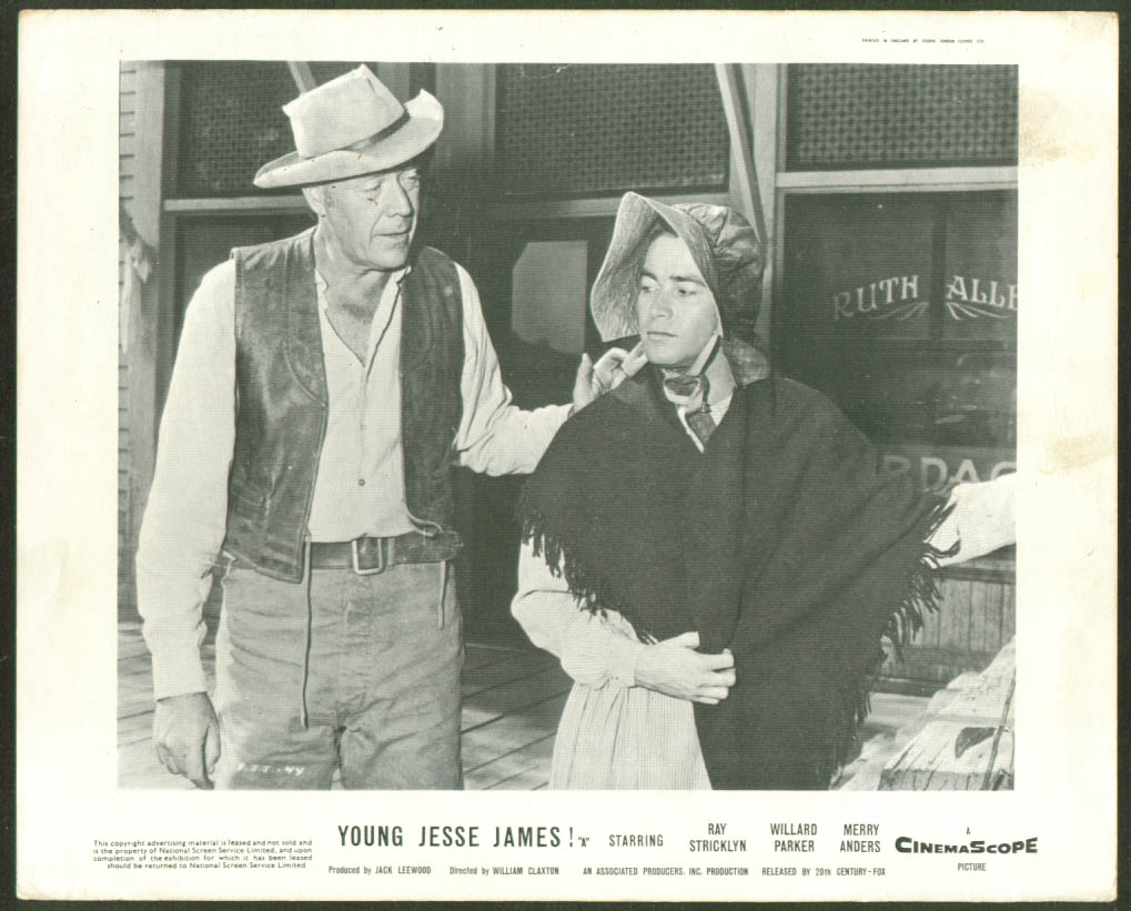 Image for Ray Stricklyn Young Jesse James lobby card 1960