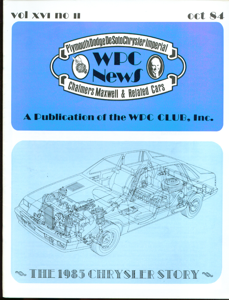 WPC NEWS 1985 Chrysler Story ++ 10 1984