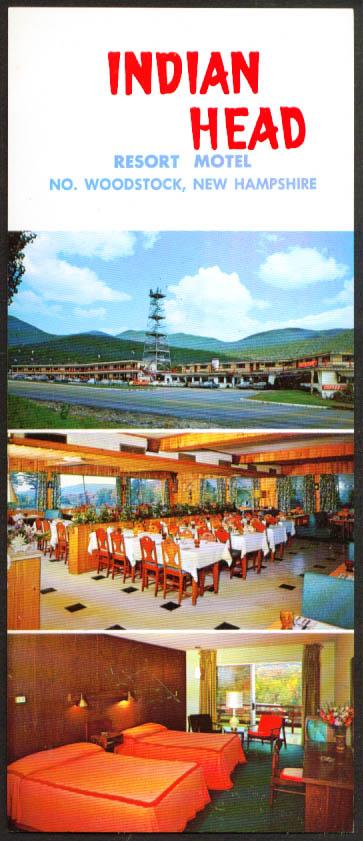 Indian Head Motel N Woodstock NH jumbo postcard 1967