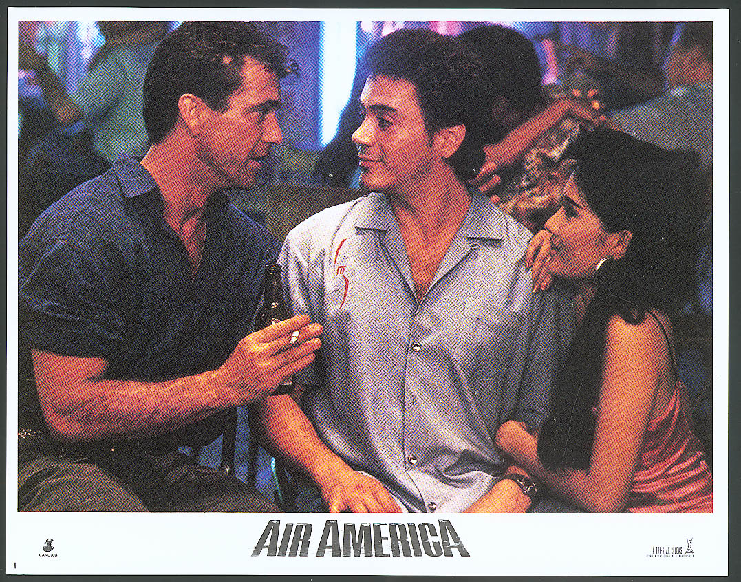 Image for Mel Gibson Robert Downey Jr Air America lobby card #3 1990