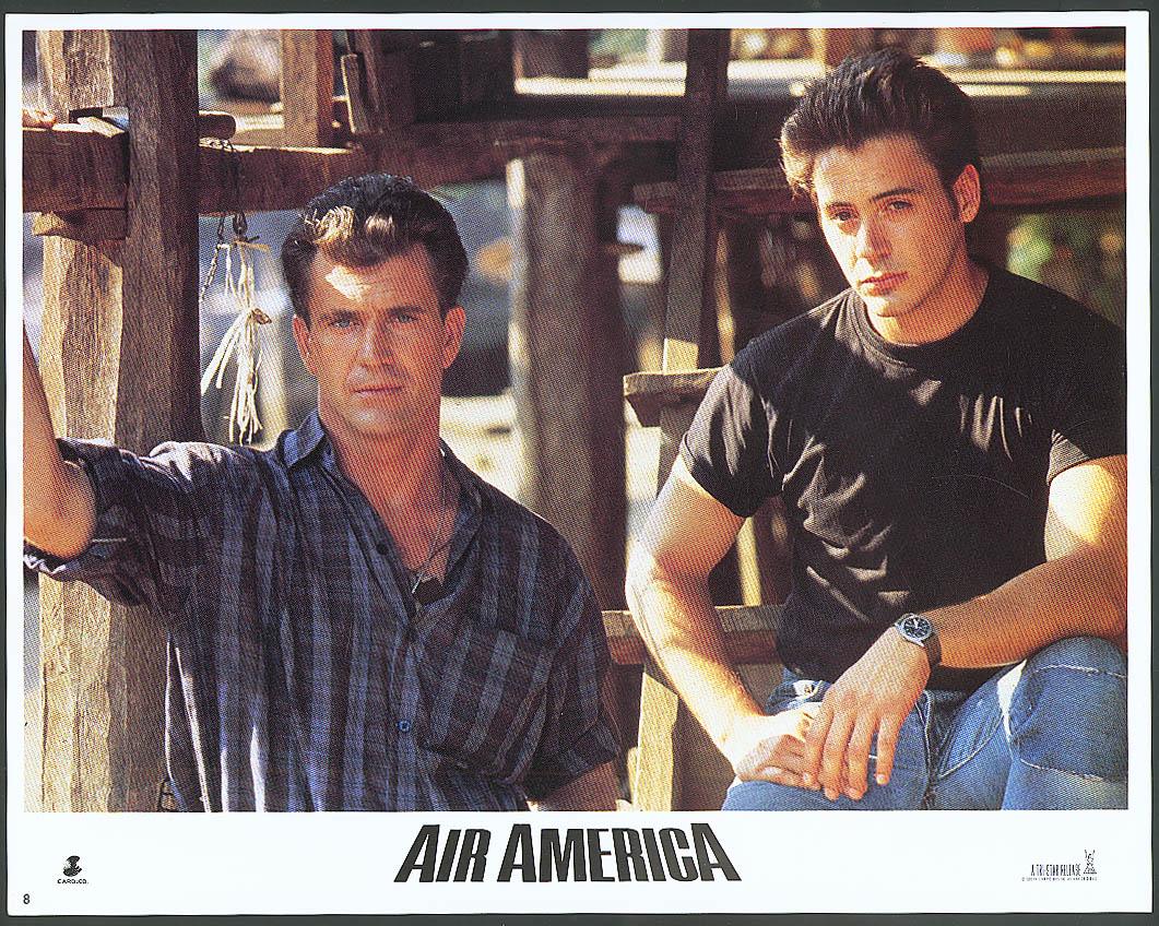 Image for Mel Gibson Robert Downey Jr Air America lobby card #2 1990