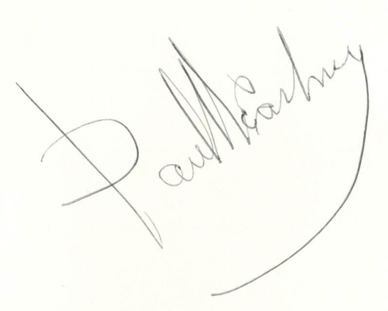 Beatles on Broadway SIGNED Paul McCartney 1964 TWICE?