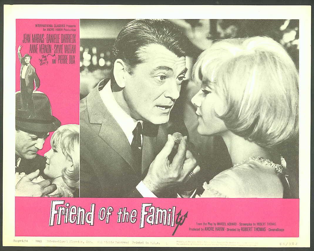 Image for Danielle Darrieux Friend of the Family lobby card 1965