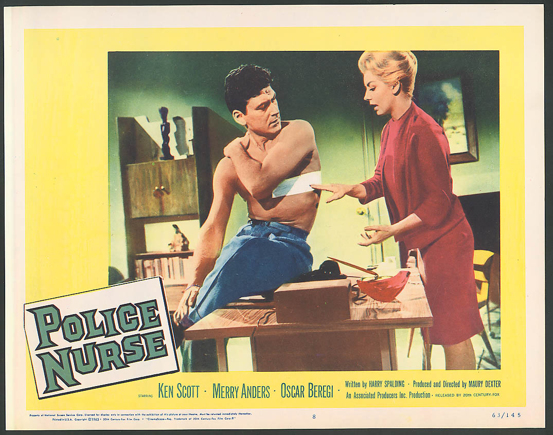 Image for Ken Scott Merry Anders Police Nurse lobby card 1963 #1