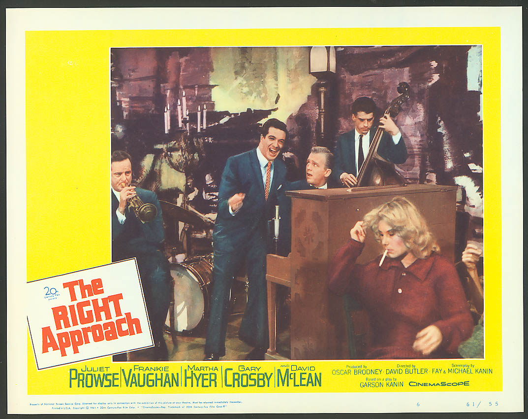 Image for Gary Crosby in The Right Approach lobby card 1961