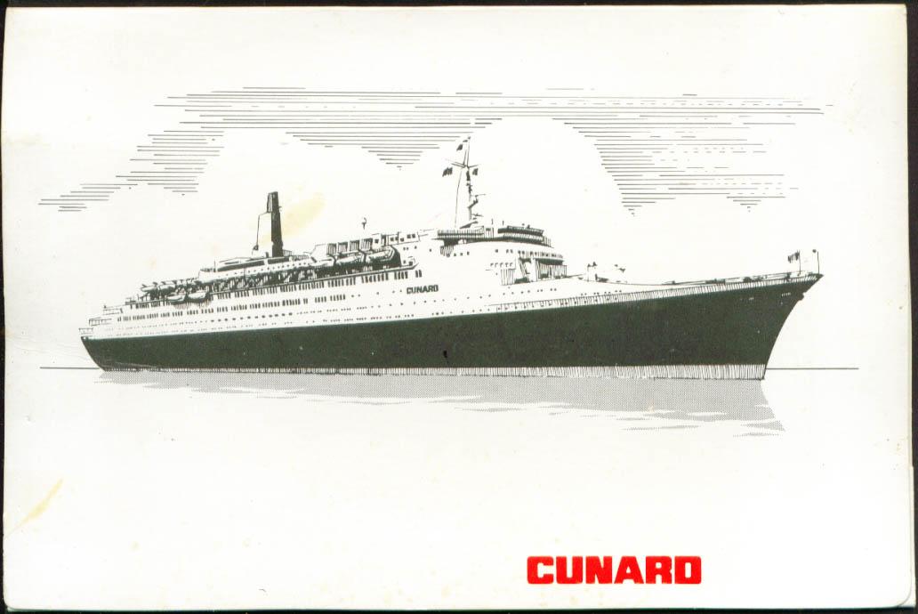 Cunard R M S QE2 On-board photo folder 1975
