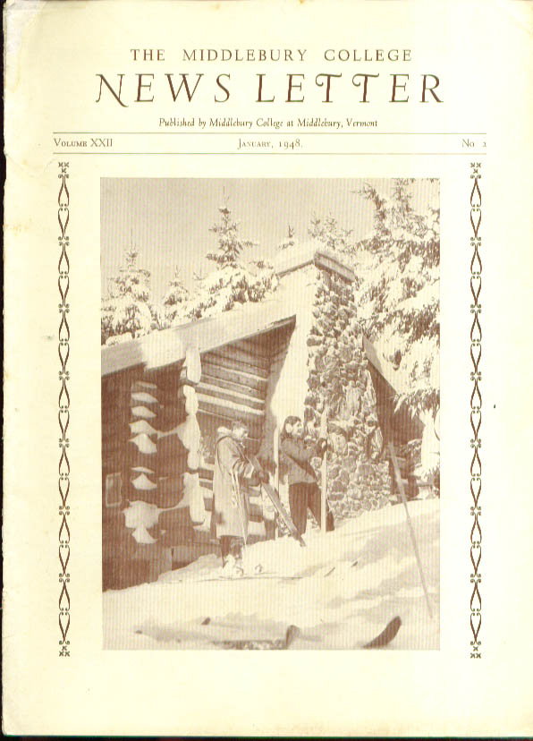 New Social Center Middlebury College Newsletter 1 1948