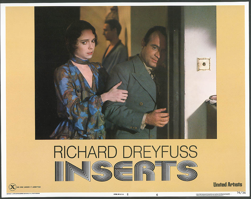 Image for Jessica Harper Bob Hoskins in Inserts lobby card 1976