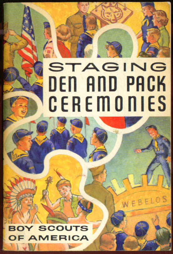 Staging Den & Pack Ceremonies Boy Scout Guide 1961