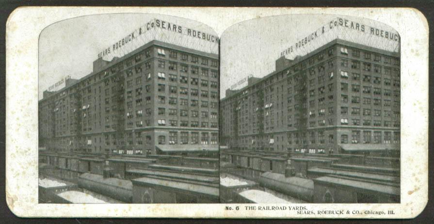 Raiilroad Yards Chicago Sears Roebuck steroview 1900 +/-