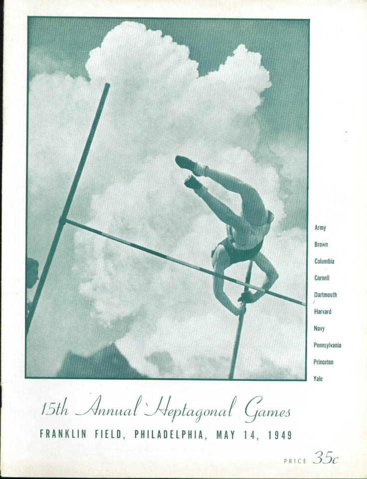 Ivy League Army Navy 15th Heptagonal Games program 1949