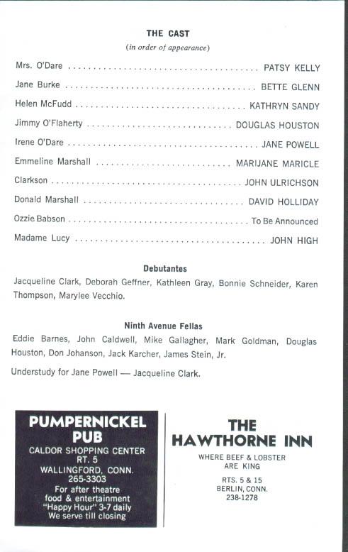 Jane Powell In Irene Playbill Oakdale Musical Theatre Program - Playbill program