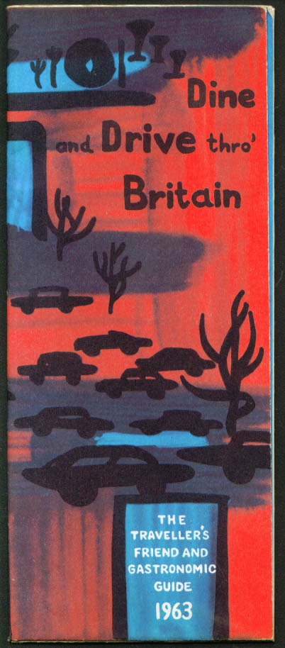 Dine & Drive Thru Britain Gastronomic Guide Map 1963