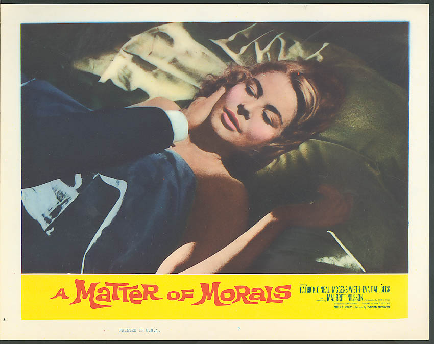 Image for Maj-Britt Nilsson A Matter of Morals lobby card 1961