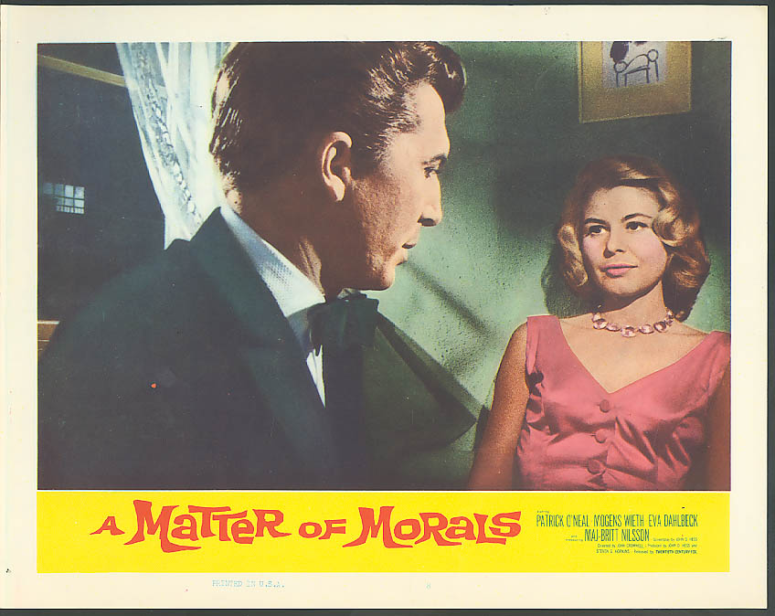 Image for Patrick O'Neal Maj-Britt Nilsson A Matter of Morals lobby card 1961