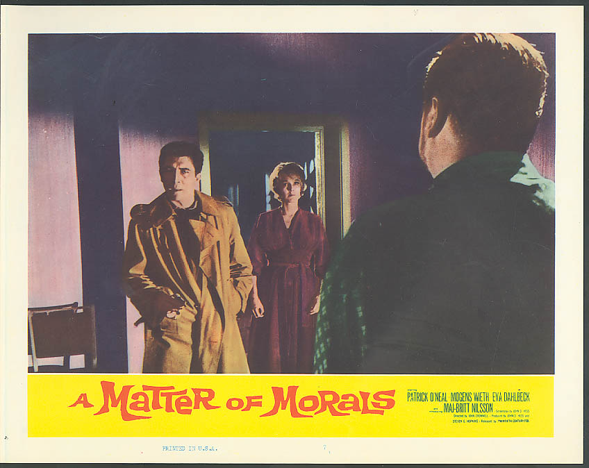 Image for Mogens Wieth A Matter of Morals lobby card 1961