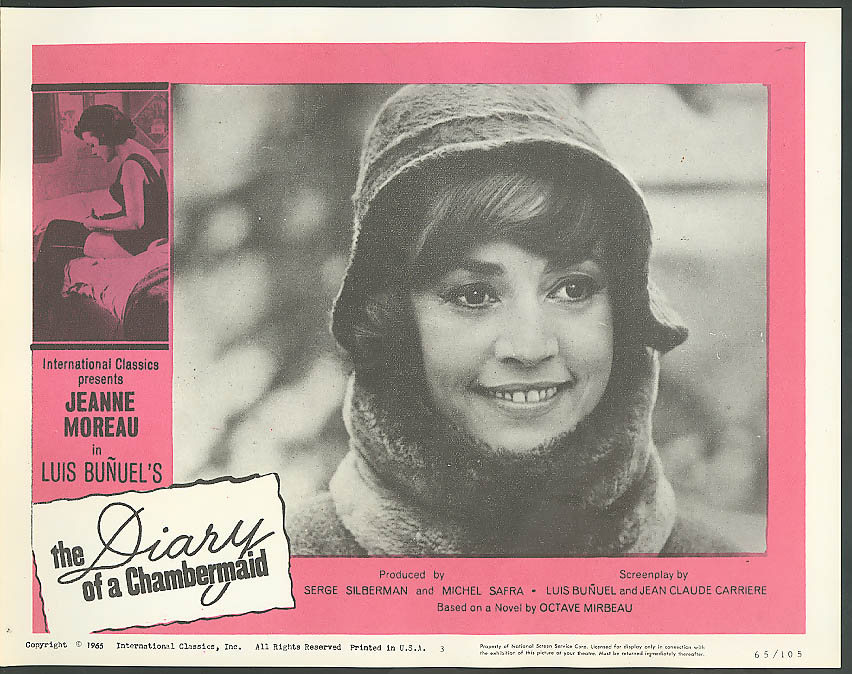 Image for Jeanne Moreau A Diary of a Chambermaid lobby card 1965