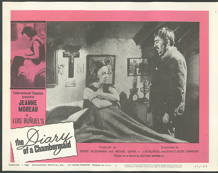 Image for Moreau in bed A Diary of a Chambermaid lobby card 1965