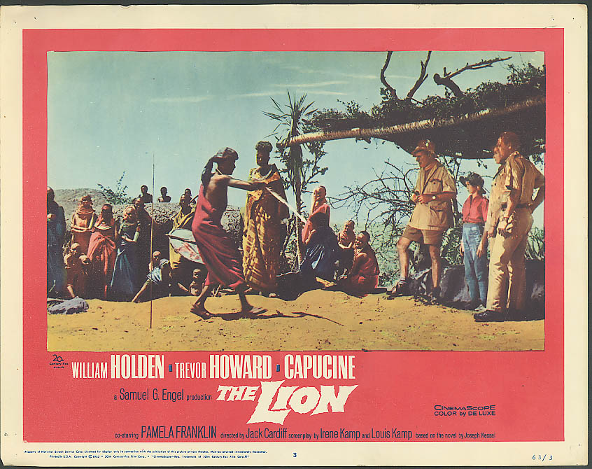 Image for Natives dance William Holden The Lion lobby card 1963
