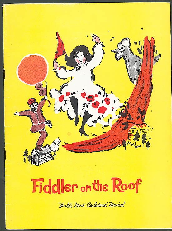 Fiddler on the Roof program Joe Cusanelli 1960s
