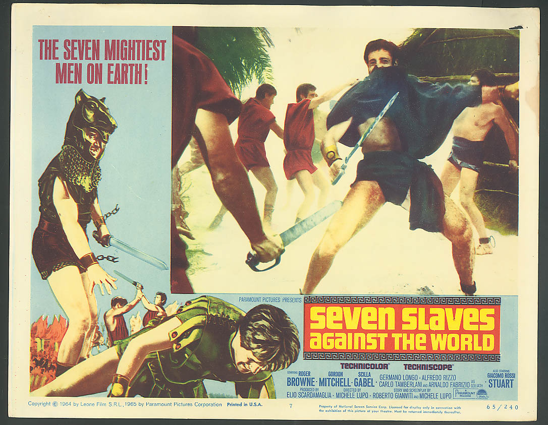 Image for Seven Slaves Against the World movie lobby card 1965