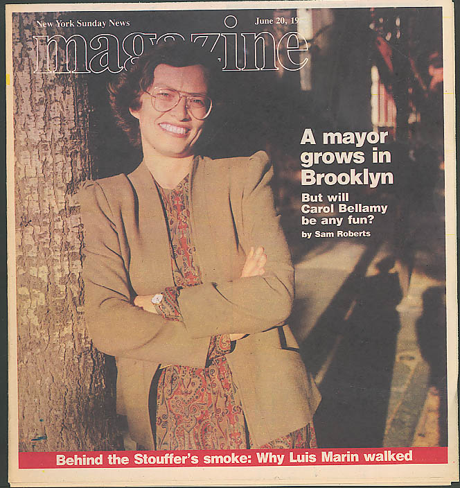 NEW YORK SUNDAY NEWS MAGAZINE Brooklyn Mayor Carol Bellamy 6/20 1982