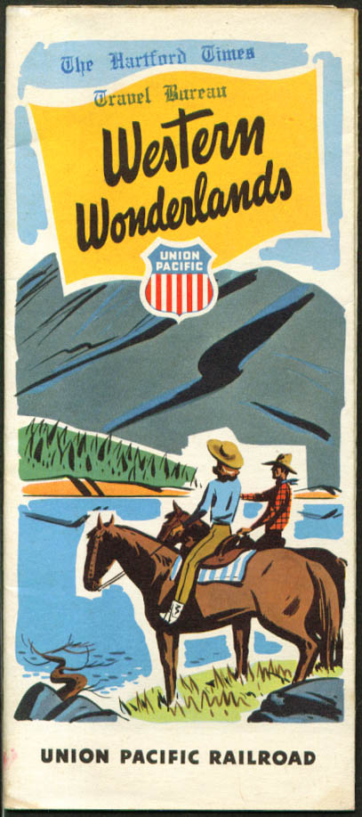 Union Pacific RR Western Wonderlands Map folder 1949